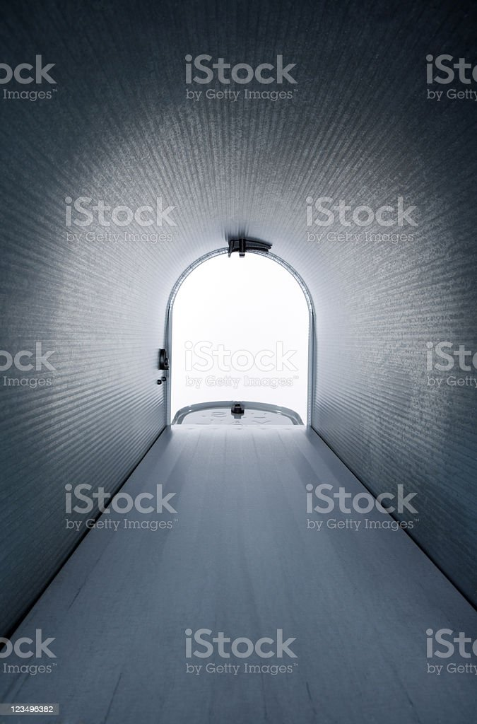 empty mailbox interior stock photo
