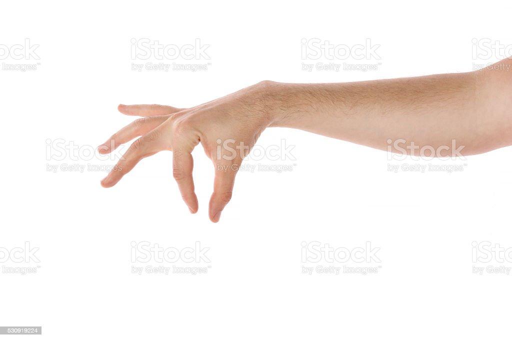 empty man hand holding something stock photo