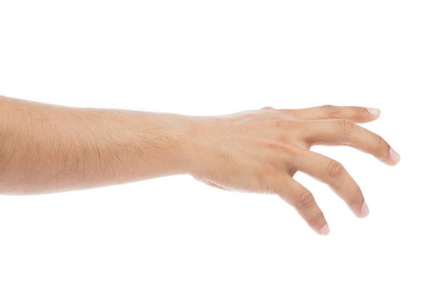 empty man hand on white background - gripping stock photos and pictures