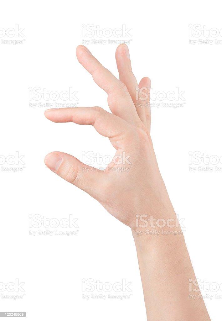 empty man hand stock photo