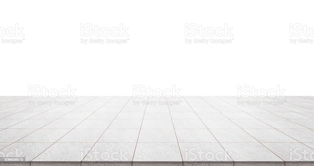 Empty marble floor isolated on white background – Foto