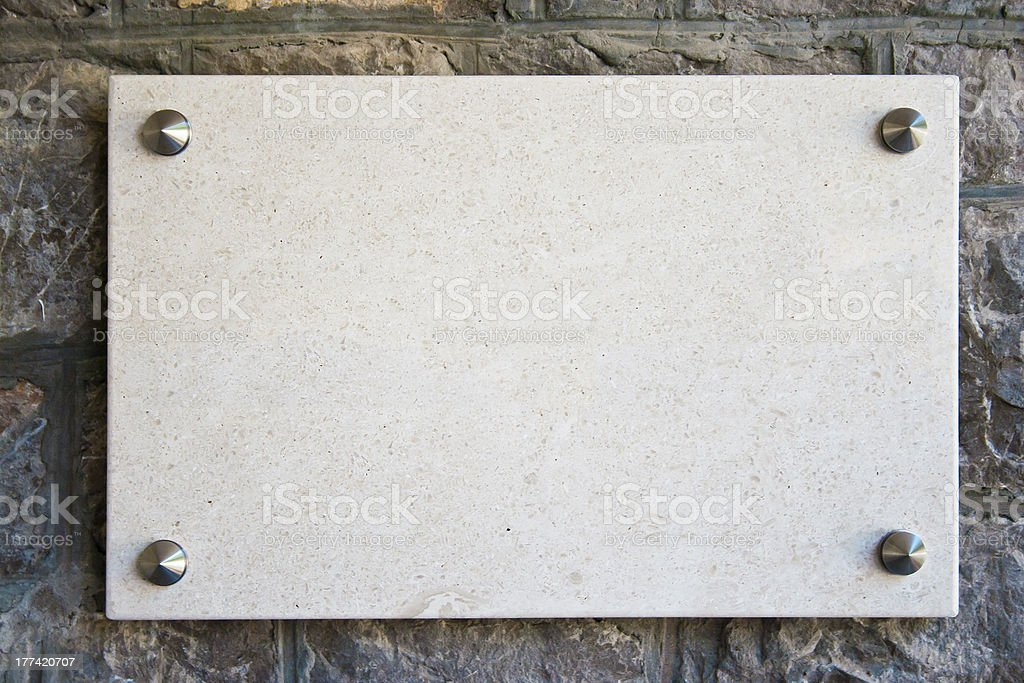 Empty marble plate stock photo
