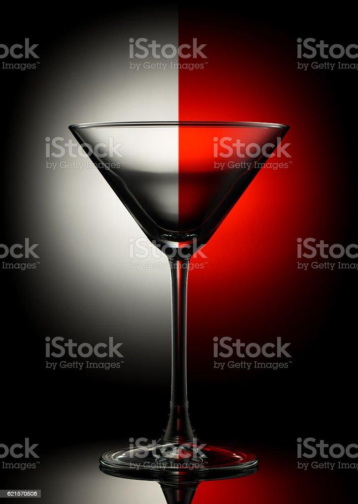 Empty martini glass on color photo libre de droits