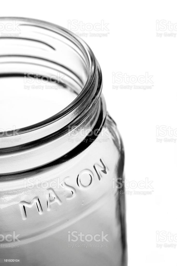 Empty Mason Jar royalty-free stock photo