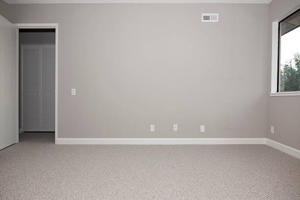 empty master bedroom stock photo