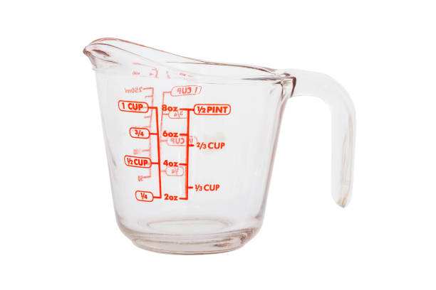 Empty measuring cup isolated on white background  with clipping path. stock photo