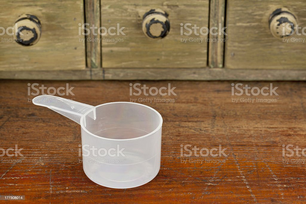 empty measuring cup royalty-free stock photo