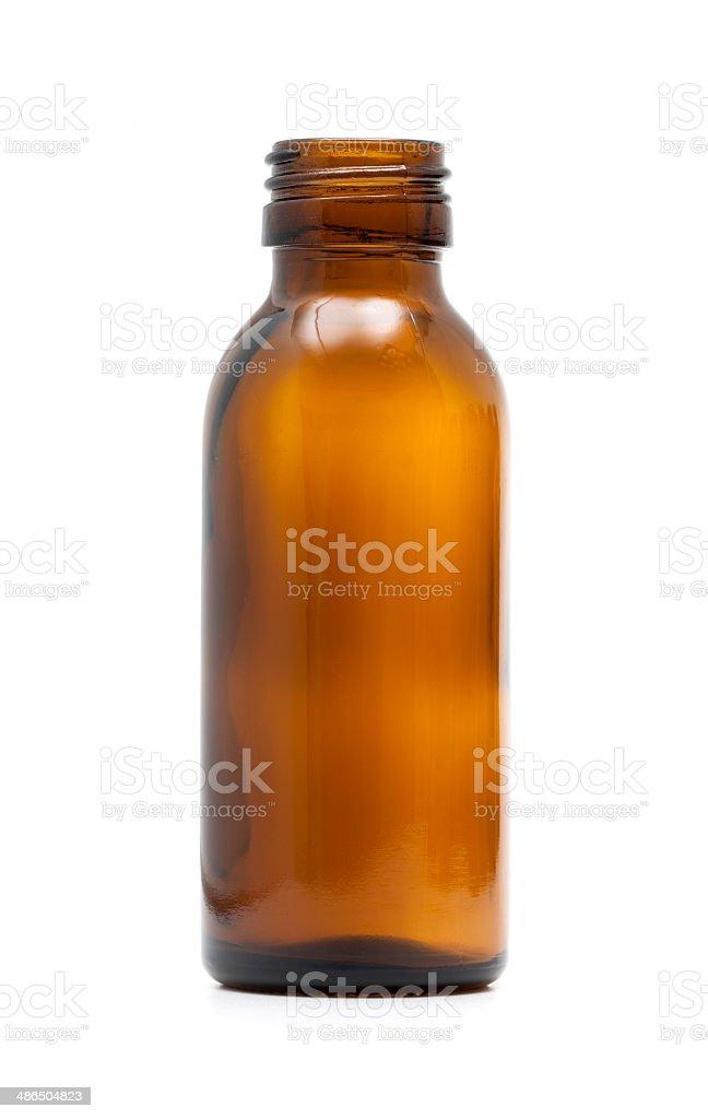 Empty medicine Bottles isolated on white background stock photo