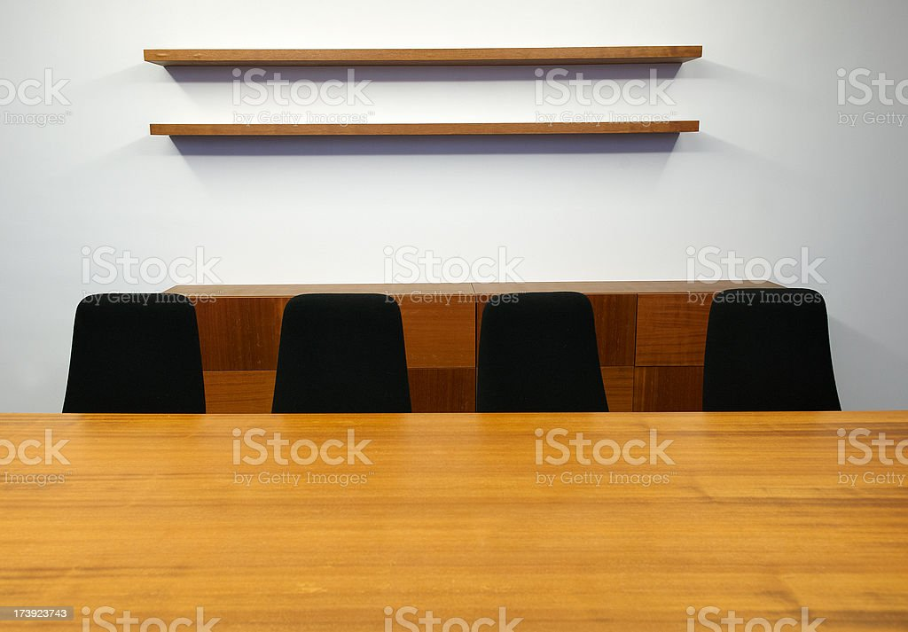 Empty meetingroom royalty-free stock photo