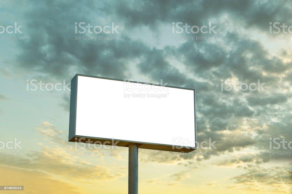 Empty Megaboard stock photo