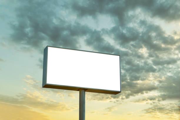 leere megaboard - plakatieren stock-fotos und bilder