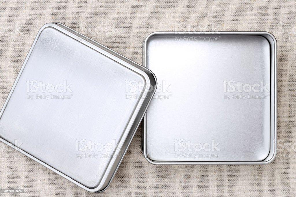 Empty metal box stock photo