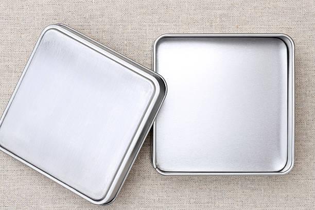 leer metall box - aluminiumkiste stock-fotos und bilder