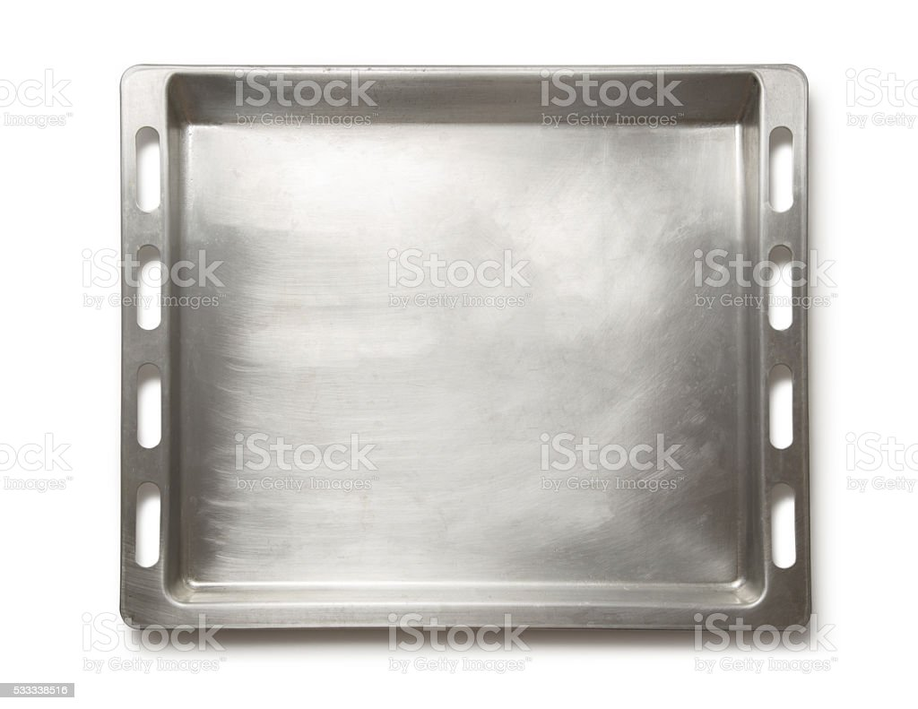 Empty metal oven tray – Foto