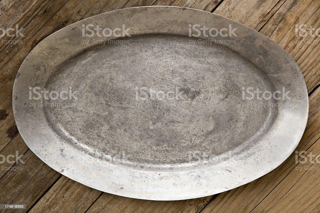 Empty Metal Tray stock photo