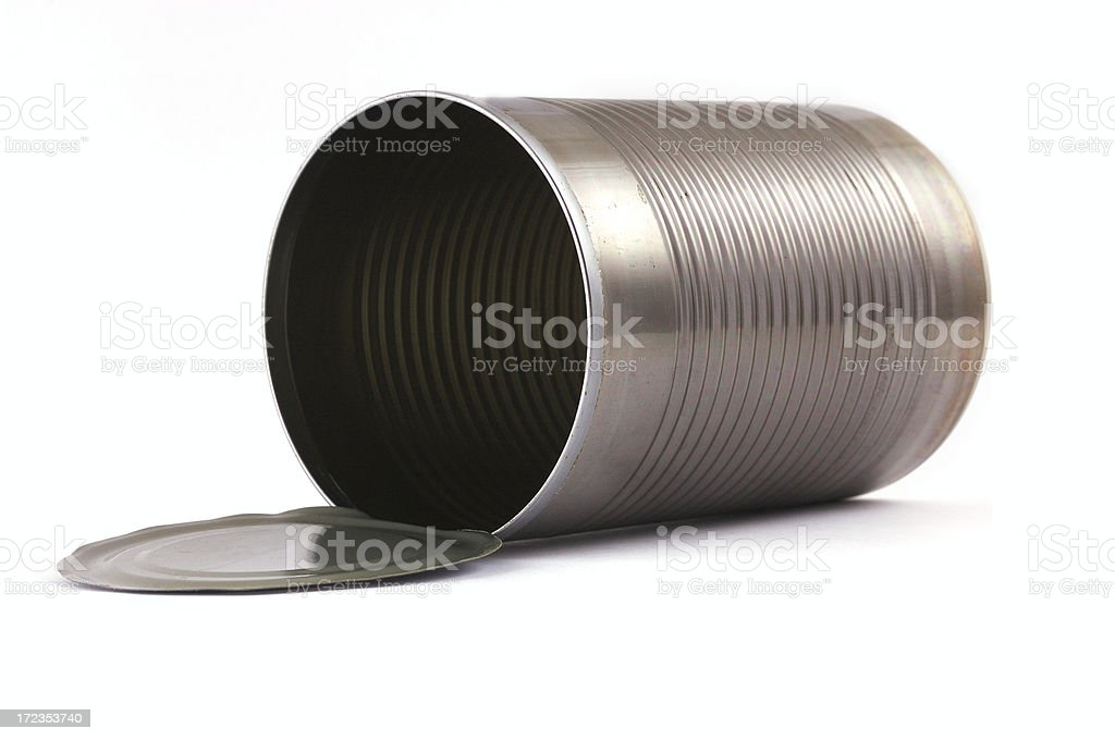 empty metallic open can 3 royalty-free stock photo