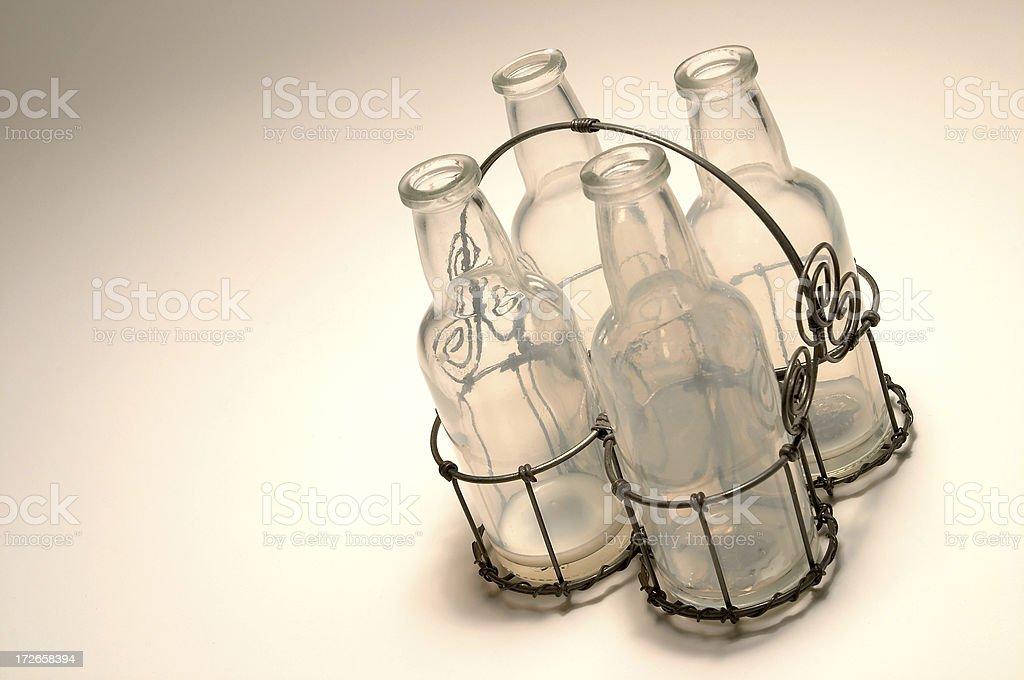 Empty Milk Bottles royalty-free stock photo