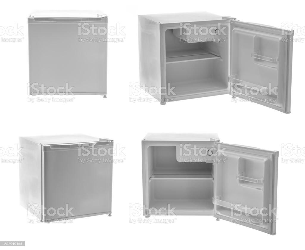 Leere Minibar Isoliert Auf Weißem Hintergrund Stock-Fotografie und ...