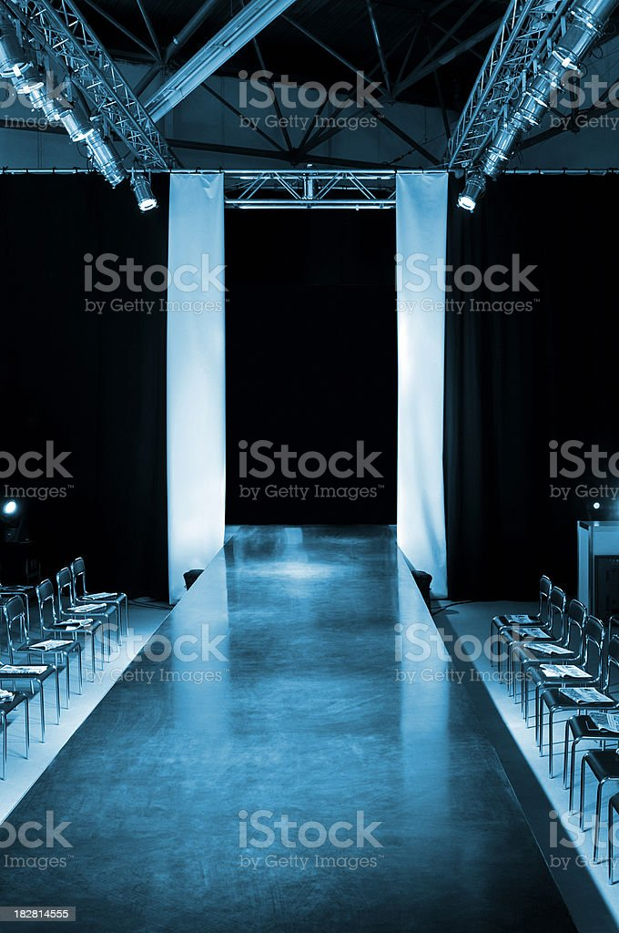 Empty model catwalk stock photo
