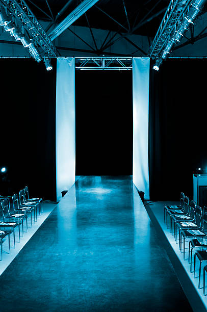 Empty model catwalk Model catwalk is waiting for you. Fashion show. ramp stock pictures, royalty-free photos & images