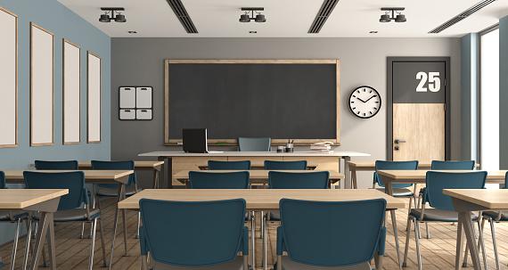 istock Empty modern classroom 956289684