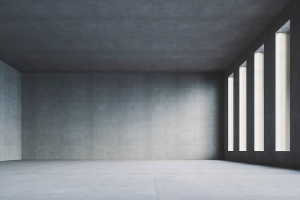 빈 현대 콘크리트 방 - 콘크리트 벽 뉴스 사진 이미지