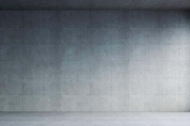 Empty modern concrete room stock photo