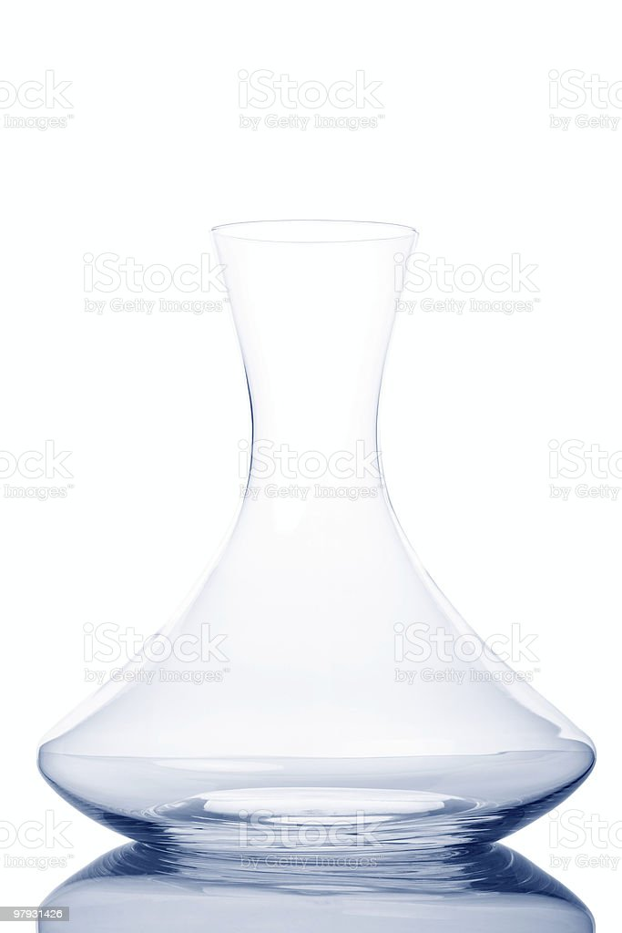 Empty Modern Decanter royalty-free stock photo