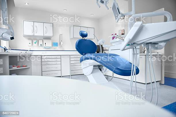 Empty Modern Dentist Room Stock Photo - Download Image Now