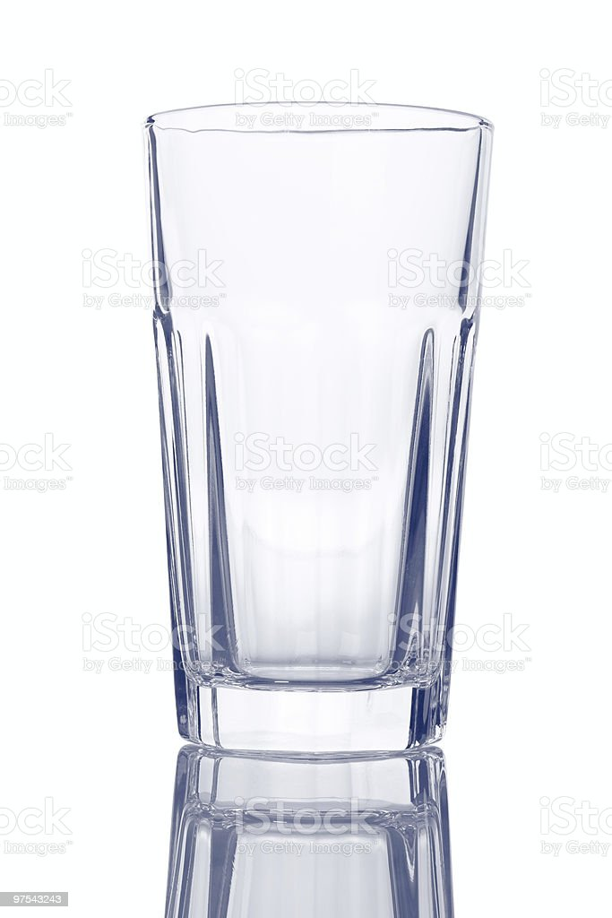 Empty Modern Drinking Glass royalty-free stock photo