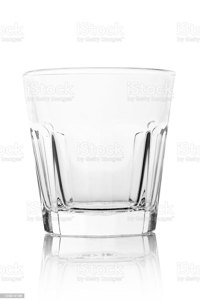 Empty Modern Drinking Glass Tumbler stock photo