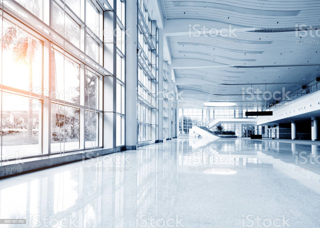 Empty modern hall stock photo