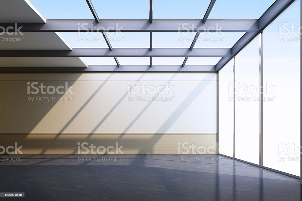 Empty Modern Interior stock photo