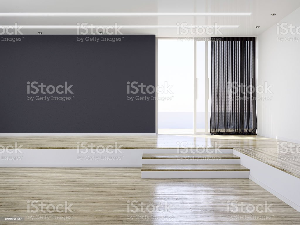 Empty Modern Interior Room royalty-free stock photo