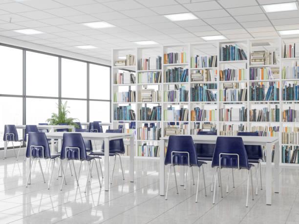 Leere moderne Bibliothek – Foto