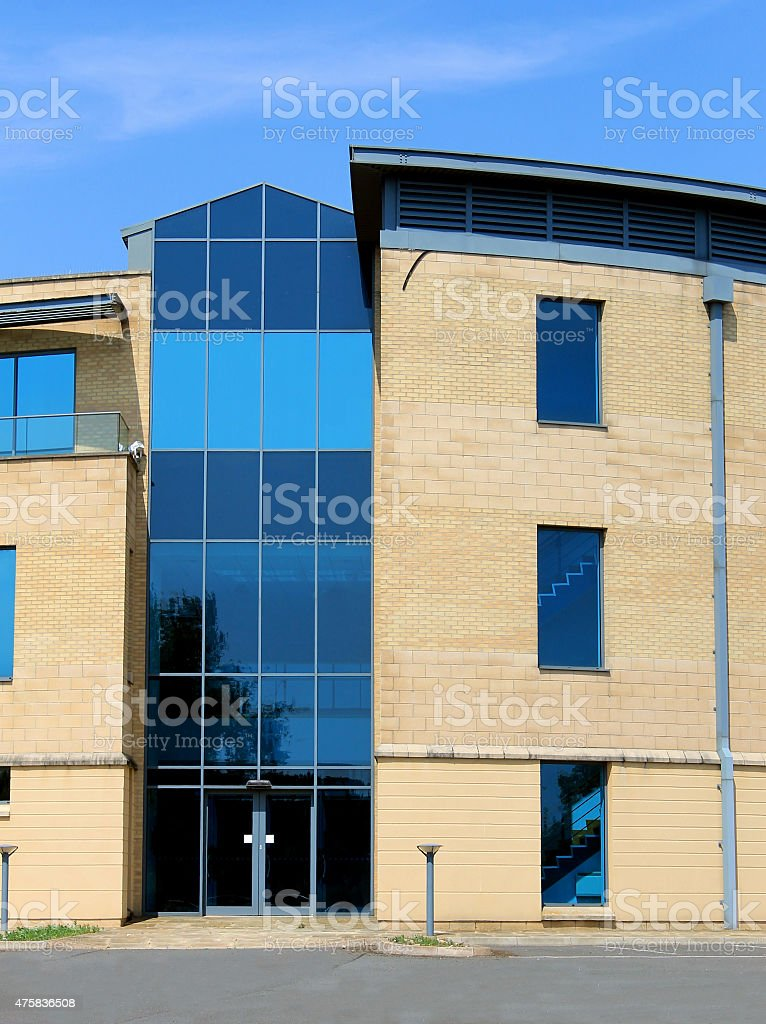 Empty modern office building stock photo