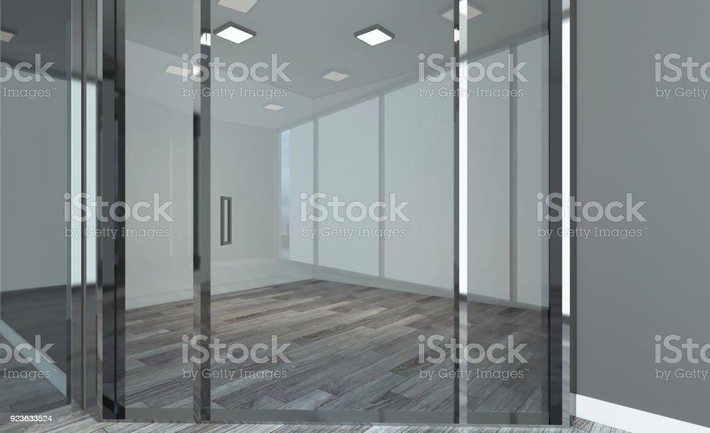 Vacíe La Moderna Oficina De Gabinete Sala De Reuniones Render 3d ...