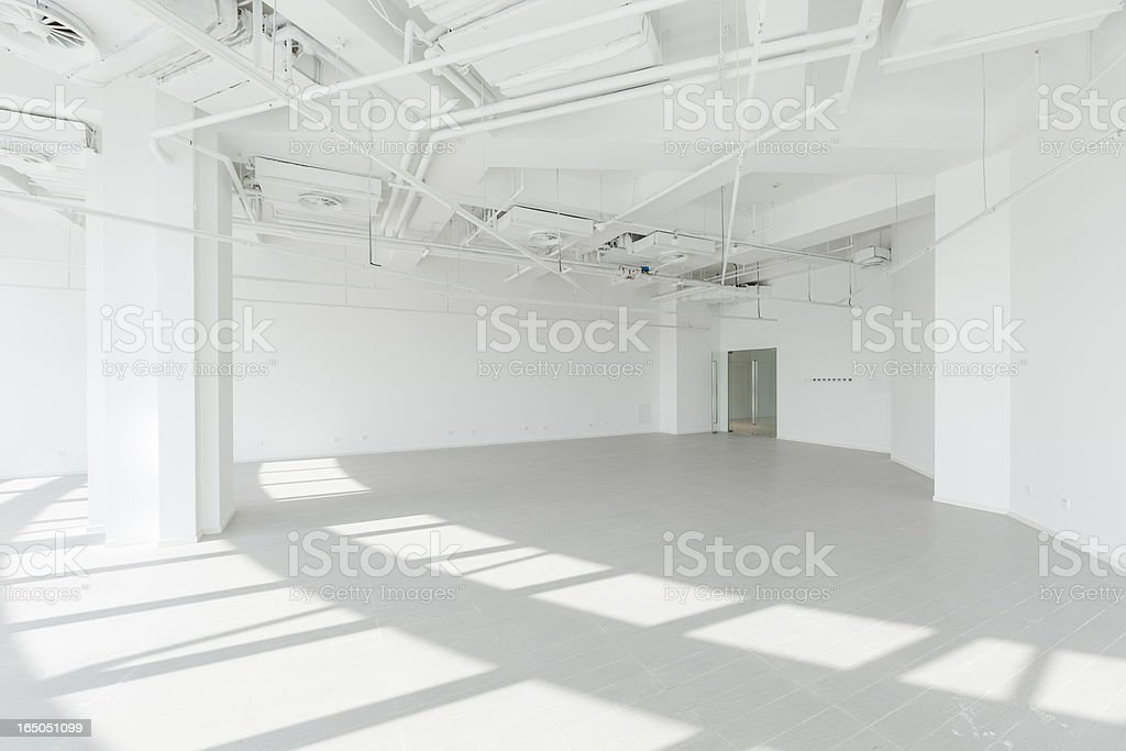 Empty modern office stock photo