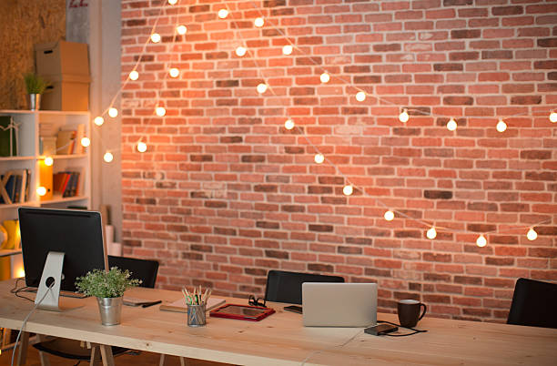430 String Lights On Wall Stock Photos, Pictures & Royalty-Free Images -  iStock