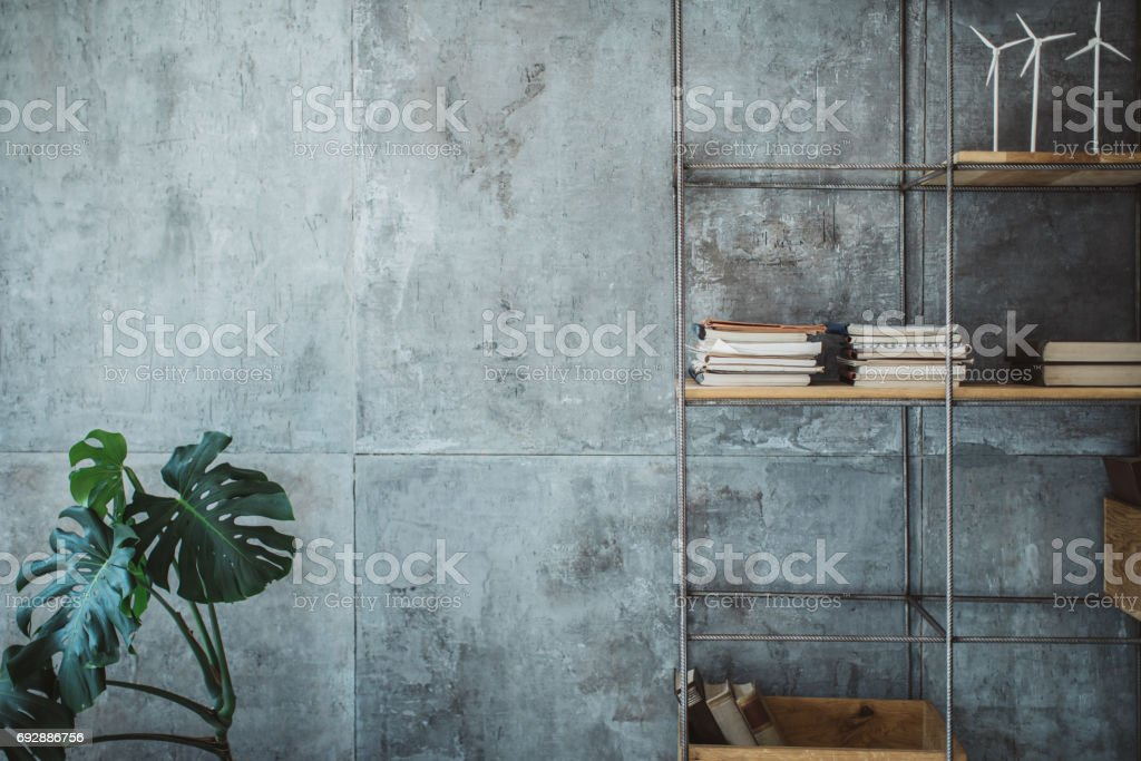 Empty modern office space stock photo