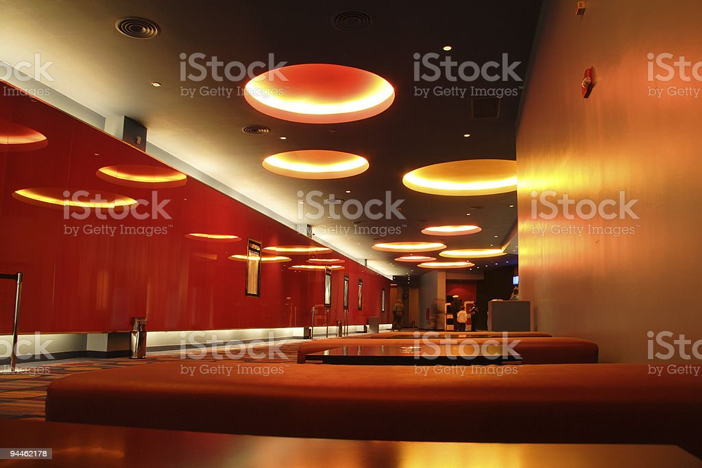 Empty modern red hall royalty-free stock photo
