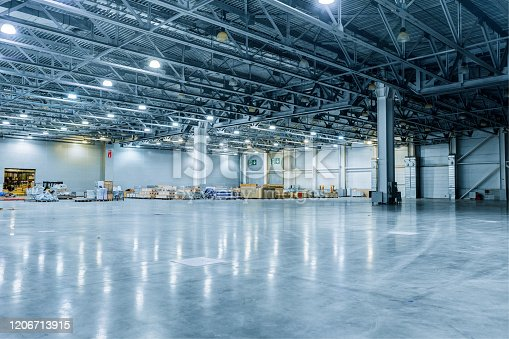 Empty Modern Warehouse ready to accept cargo