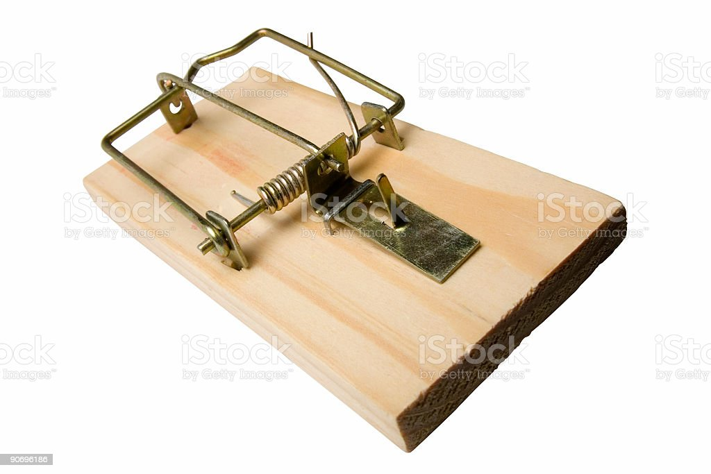empty mousetrap royalty-free stock photo