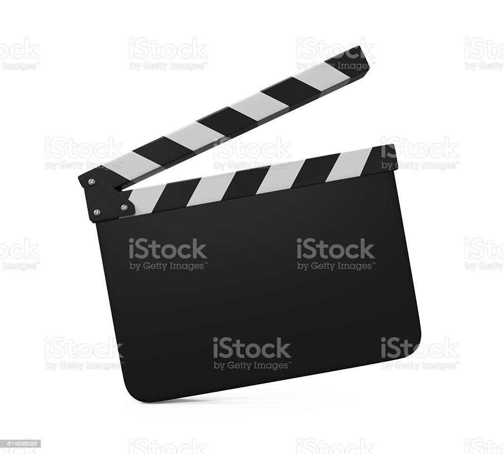 Empty Movie Clapper Board stock photo
