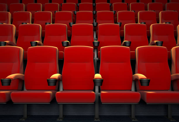 empty movie theater - seat stock photos and pictures