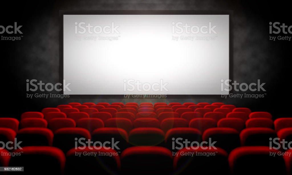 empty movie theater stock photo