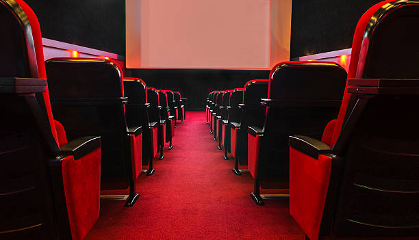 empty movie theatre - film festival stock photos and pictures