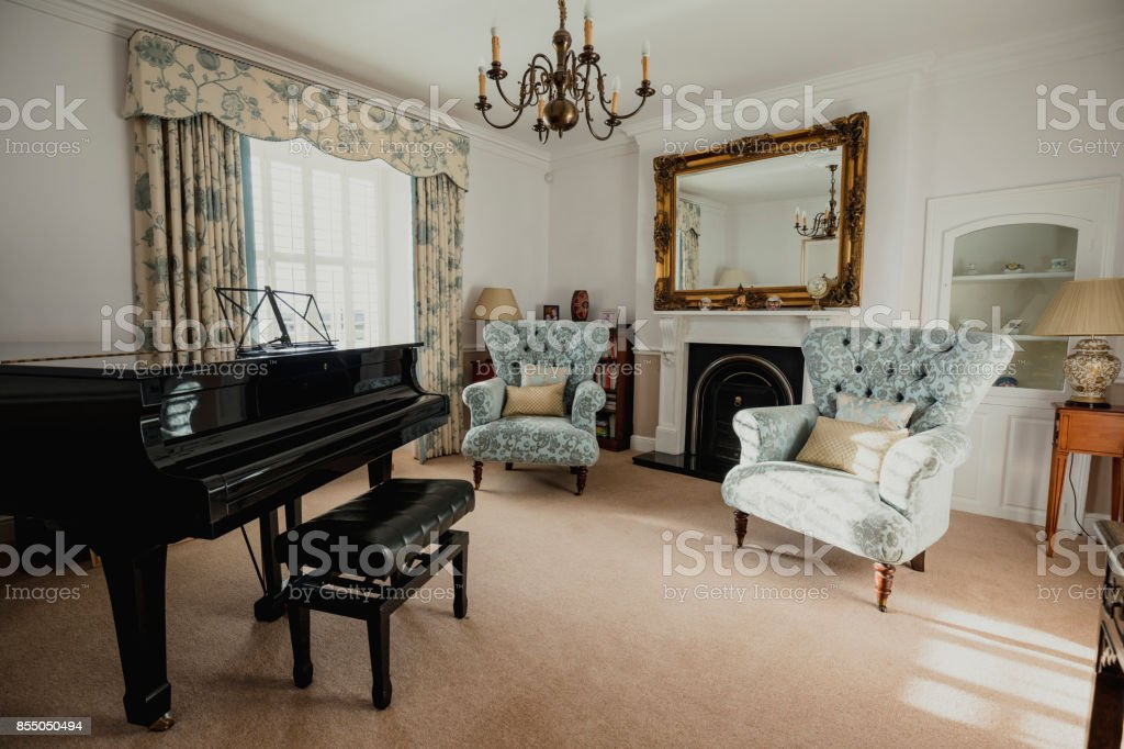 Empty Music Room stock photo