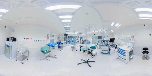 Empty new operating room in the hospital Empty new operating room in the hospital 360 degree view stock pictures, royalty-free photos & images