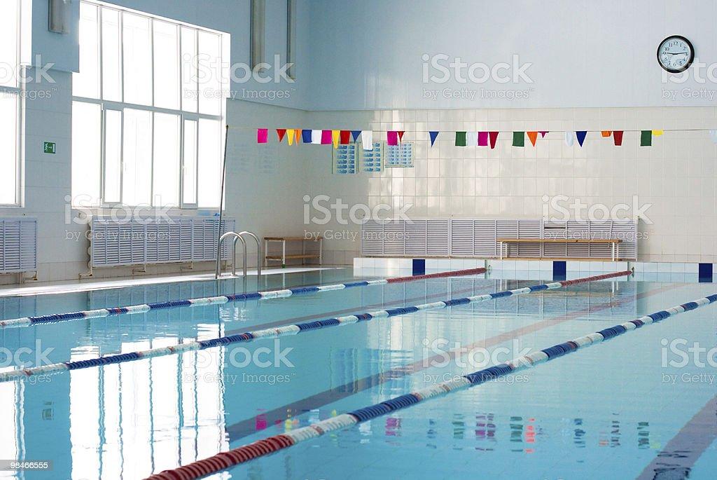 Empty new school swimming pool royalty-free stock photo